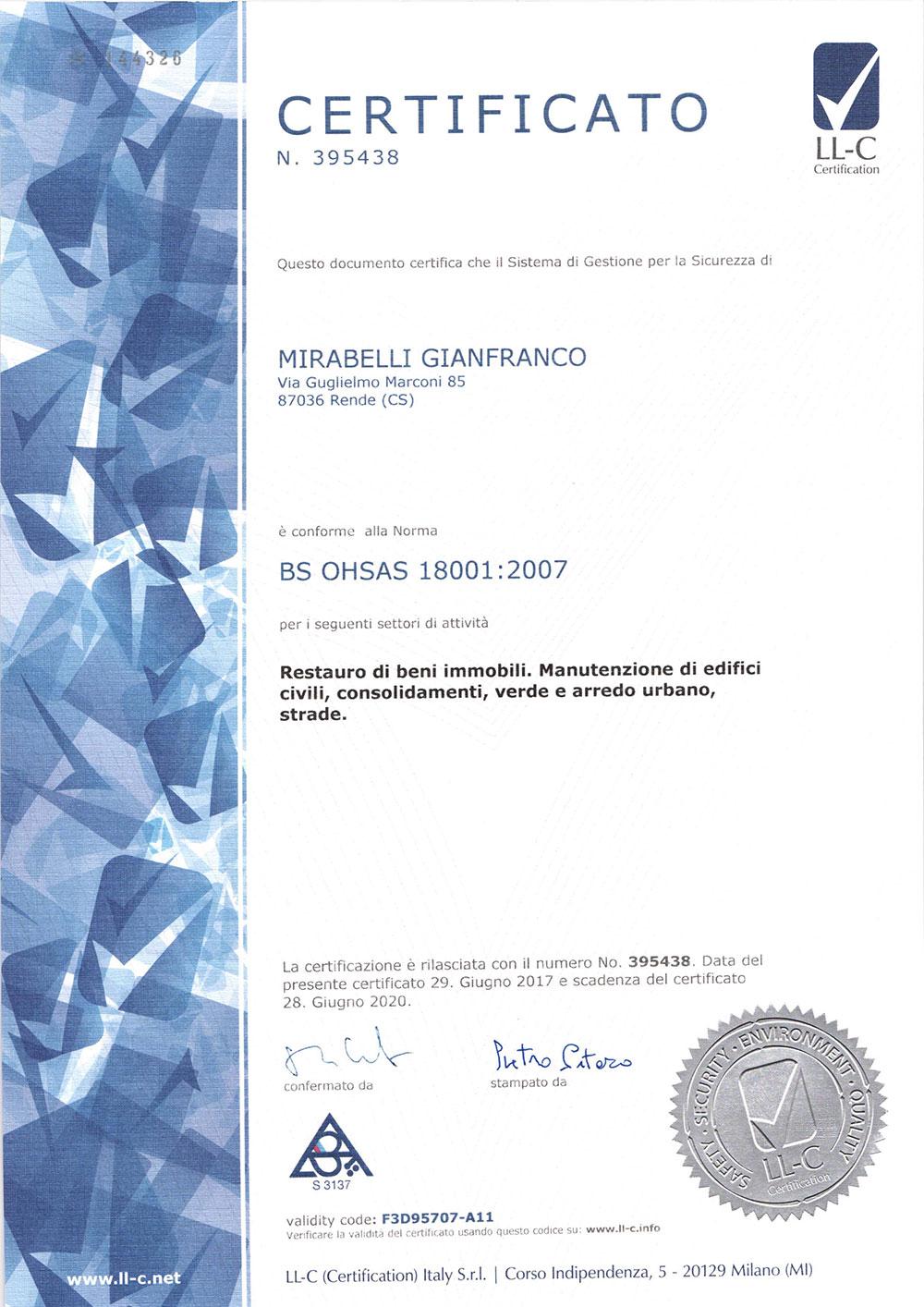 Certicazione 2007