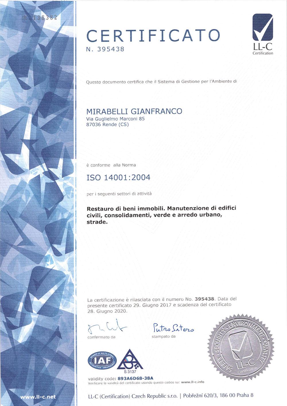 Certificazione UNI-EN-ISO-9001 2014